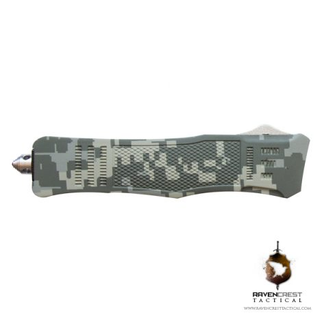 RCT-1 Raven Serrated Digital Camo Tactical OTF Knife