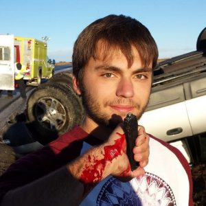 James Glencoe Uses RavenCrest Tactical® Spartan OTF Knife To Help Rolled Car Victim