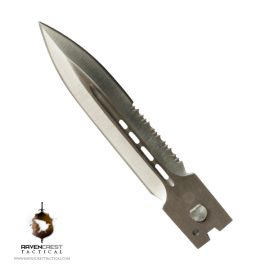 Full Size Spear Point (Half & Half) Satin Blade