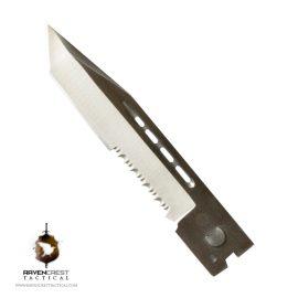Full Size Tanto Serrated Satin Blade