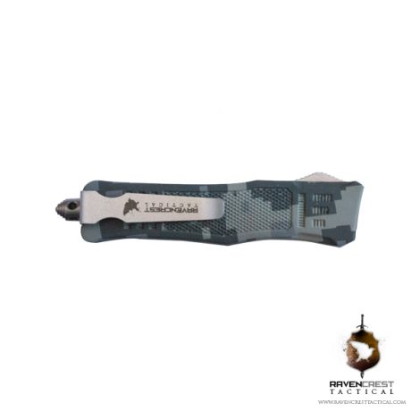 Mini RCT-1 Raven Digital Camo OTF Knife