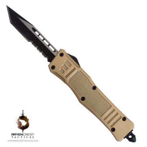 RCT-1 Raven OTF Knife Metallic Gold