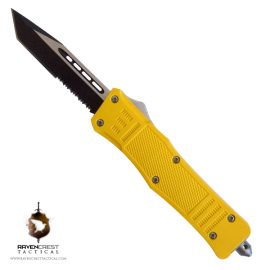 RCT-1 Raven Slasher Yellow OTF Knife