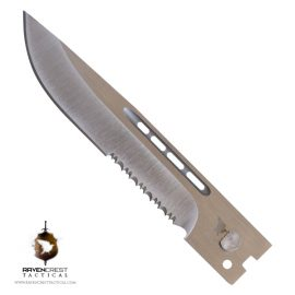 Drop Point Serrated Satin Finish Blade