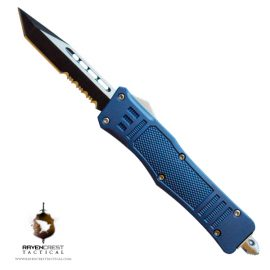 Mini RCT-1 Raven American Blue OTF Knife