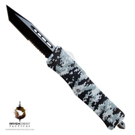 RavenCrest Tactical Urban Digi Cam RCT-1 Raven OTF Knife