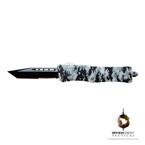 RavenCrest Tactical Urban Digi Cam RCT-1 Raven OTF Knife