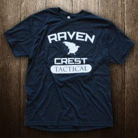 Raven Crest Tactical Dark Grey Logo T-Shirt