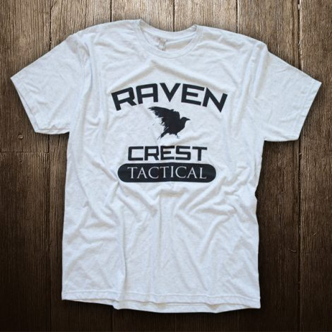Raven Crest Tactical T-Shirt Light Grey