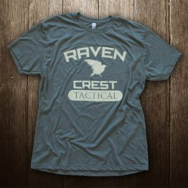 Raven Crest Tactical Military Green Logo T-Shirt