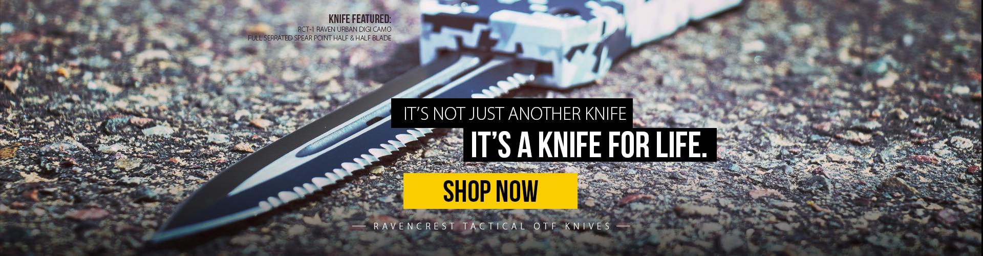 RavenCrest Tactical Knife for Life