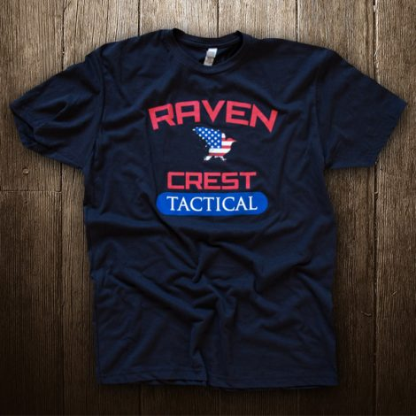 RavenCrest Tactical American Flag Logo Shirt