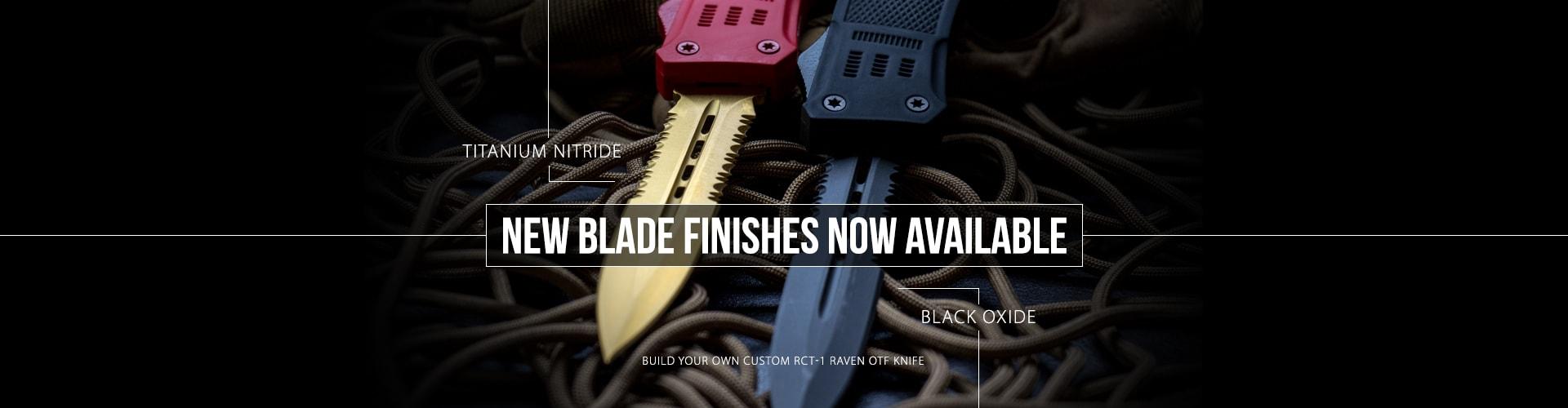 RavenCrest Tactical Black Oxide and Titanium Nitride Blade Finishes