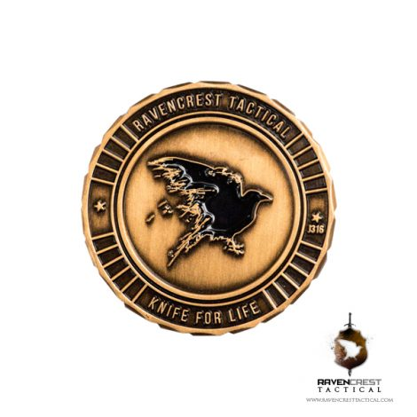 RavenCrest Tactical - Back of Challenge Coin