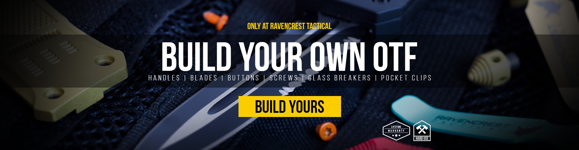 Build Your Own Custom RavenCrest Tactical OTF Knife