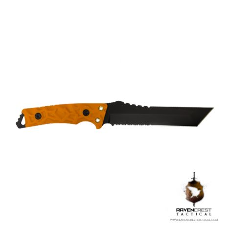 RavenCrest Tactical - Warlord Fixed Blade Fighter - Orange
