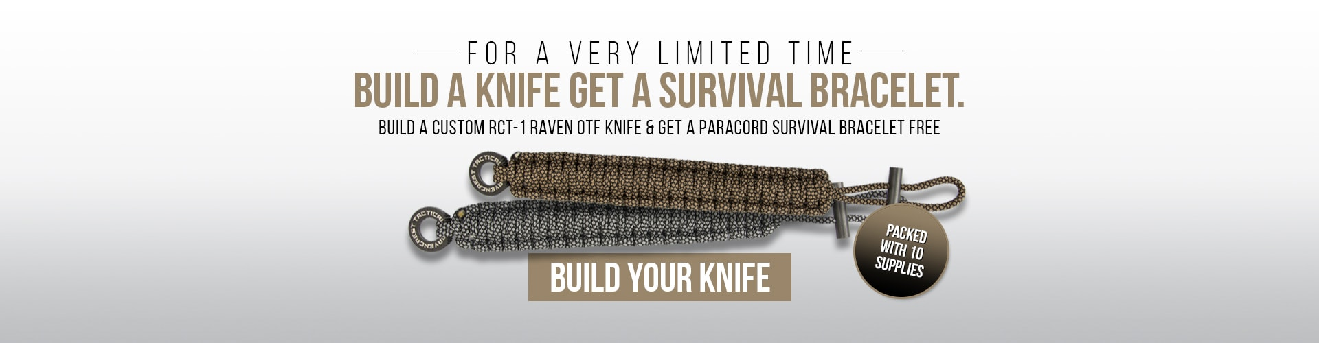 Build a custom knife and get a free paranoid