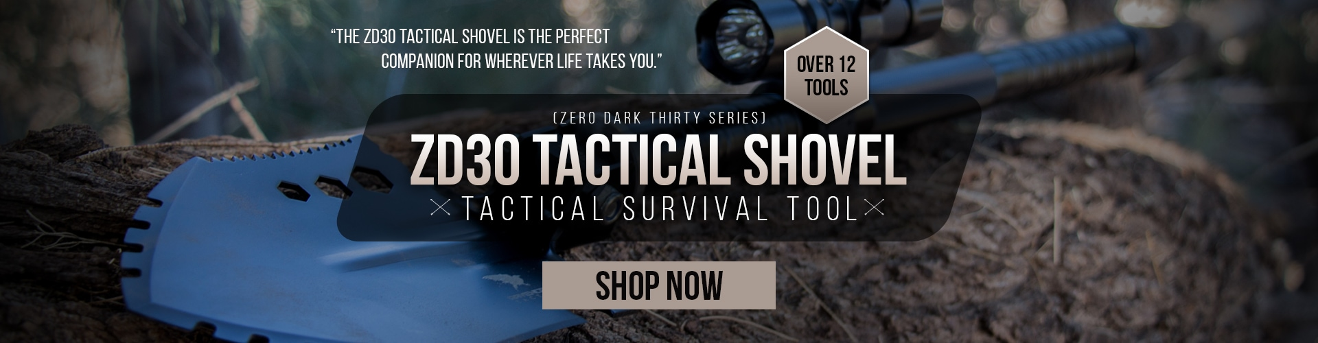 RavenCrest Tactical ZD30 Tactical Shovel