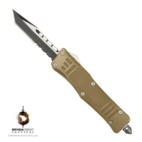 Cerakote Mini RCT-1 Raven OTF Knife Desert Tan