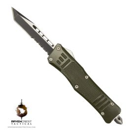 Cerakote Mini RCT-1 Raven OTF Knife OD Green