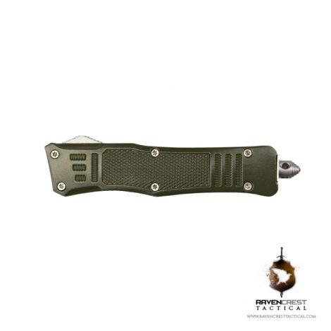 Cerakote Mini RCT-1 Raven OTF Knife OD Green