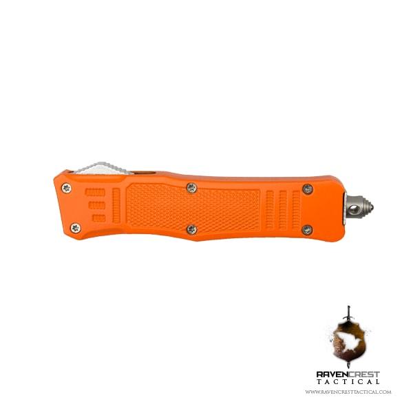 Cerakote Mini RCT-1 Raven OTF Knife Orange