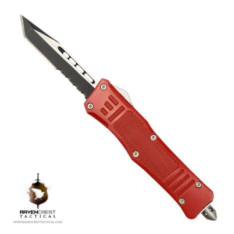 Cerakote Mini RCT-1 Raven OTF Knife Red