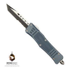 Cerakote Mini RCT-1 Raven OTF Knife Blue Titanium