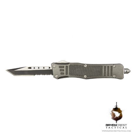 Cerakote Mini RCT-1 Raven OTF Knife Tungsten