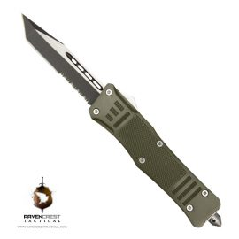 Cerakote RavenCrest Tactical RCT-1 Raven OTF Knife OD Green