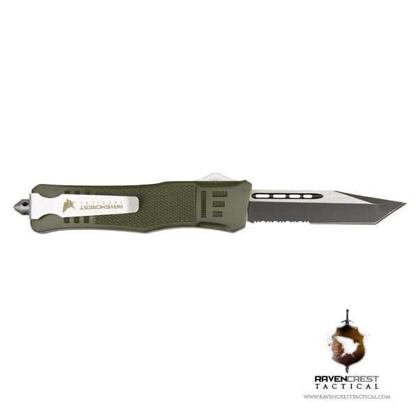 Cerakote RavenCrest Tactical RCT-1 Raven OTF Knife OD Green