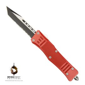 Cerakote RavenCrest Tactical RCT-1 Raven OTF Knife Red