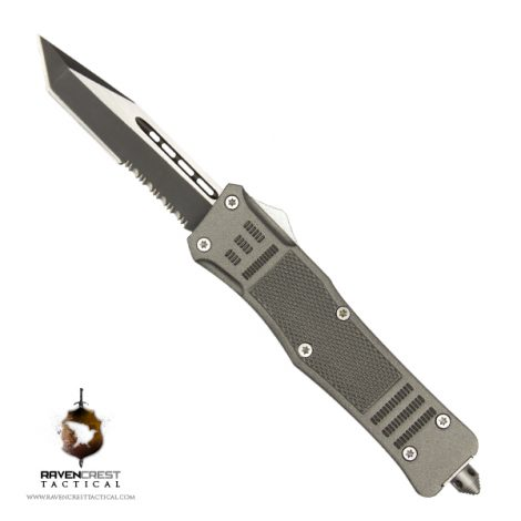 Cerakote RavenCrest Tactical RCT-1 Raven OTF Knife Tungsten