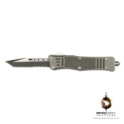 Cerakote RavenCrest Tactical RCT-1 Raven OTF Knife Tungsten