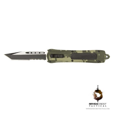 RavenCrest Tactical Digi Camo Spartan OTF Knife