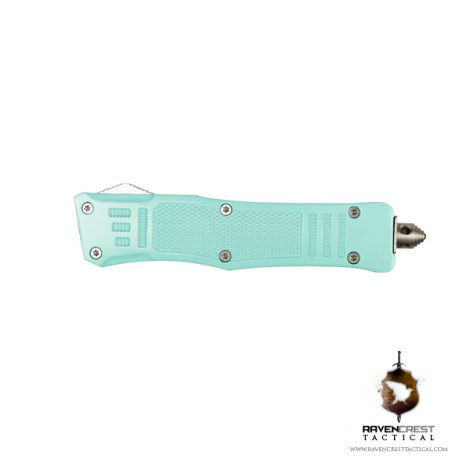 Cerakote Mini RCT-1 Raven OTF Knife Robins Egg Blue