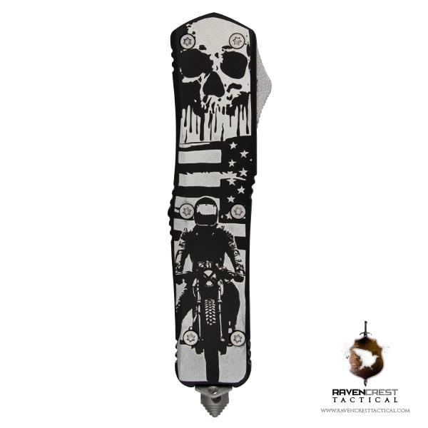 Titan Bravo Skull Motorcycle Engraving