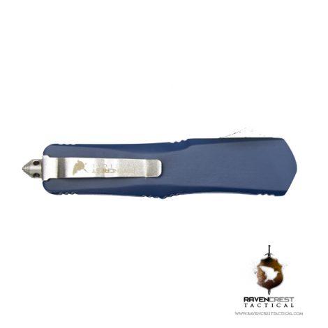 Cerakote Navy Blue Titan Bravo OTF Knife