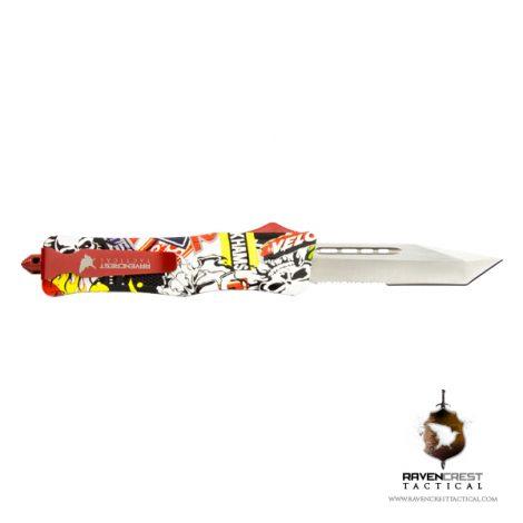 Staff Favorite - RCT-1 Raven OTF Knife Comic Skulls Hydroprint