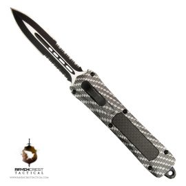 Staff Favorite - Spartan OTF Knife Hydroprint Carbon Fiber