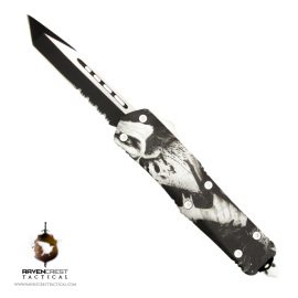Staff Favorite Titan OTF Knife Joker Face White