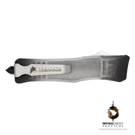 Cerakote White & Black Battle Worn RCT-1 Raven OTF Knife