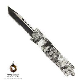 Skull Casino RCT-1 Raven OTF Knife