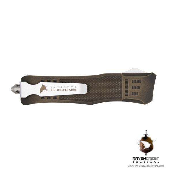 Battleworn Bronze and Black RCT-1 Raven OTF Knife