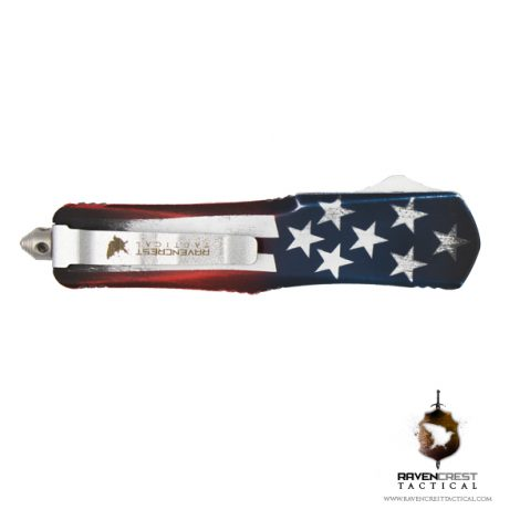 Cerakote Old Glory Titan Spear Point OTF Knife