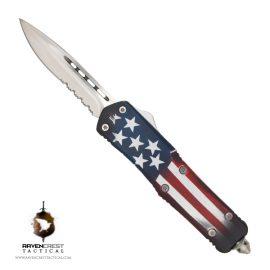Titan Bravo OTF Knife Old Glory Custom Cerakote