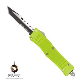 Cerakote Mini RCT-1 Raven Zombie Green OTF Knife