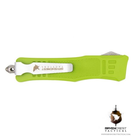 Cerakote Mini RCT-1 Raven Zombie Green OTF Knife