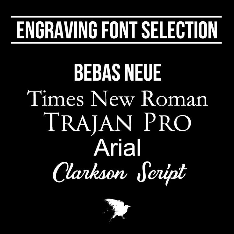 Engraving Font Selection