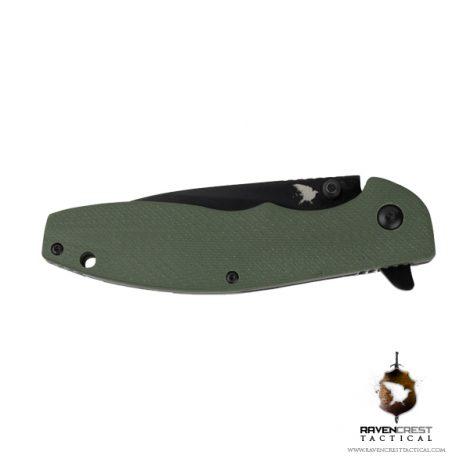 RavenCrest Tactical - OD Green Drop Point Folder